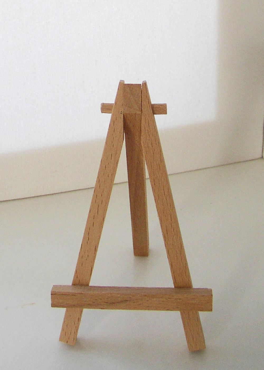 Exhibition Stand Wood : Wooden display stand for mini artwork once upon a seaside