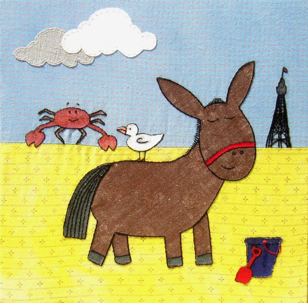 Greetings Card &quot;A Day At The Seaside&quot;